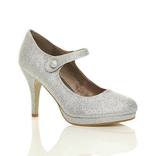 c2495e17c104d Silver Shoes Size 4: Amazon.co.uk