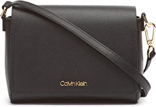 Calvin Klein Clara Stucco Leather Key Item Demi Shoulder Bag
