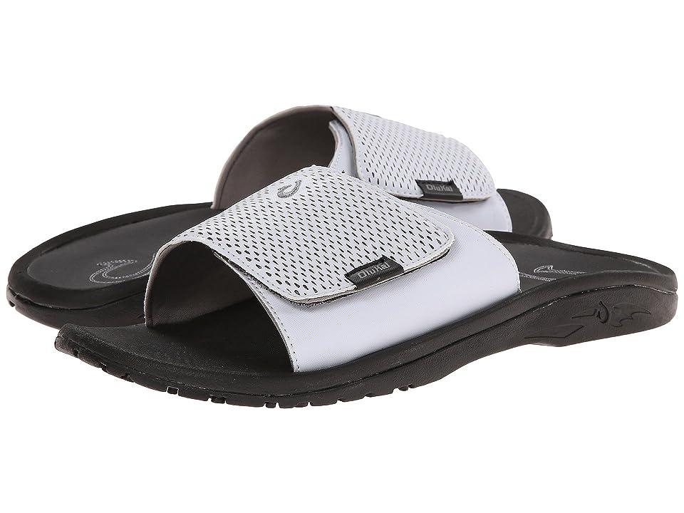 OluKai Kekoa Slide (White/Black) Men
