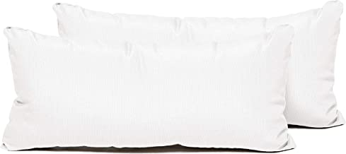 TK Classics PILLOW-WHITE-R-2x Pillows Patio Furniture, Sail White