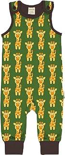 Maxomorra Jungen Strampler Overall mit Giraffen Playsuit Giraffe