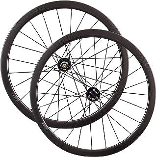 LOLTRA 6 Bolt Disc Brake 700C 23mm Width Cyclocross Bike Carbon Wheelset with Novatec D791SB D792SB Hub, 1423 Spokes, 38mm/50mm/60mm/88mm Clincher/Tubular