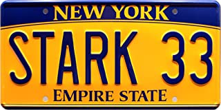 Celebrity Machines The Avengers   Stark 33   Metal Stamped License Plate