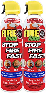 Fire Gone 2NBFG2704 White/Red Fire Suppressant Canisters – 16 Ounce, (Pack of 2 Units)