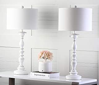 Safavieh Lighting Collection Mamie Cream Candlestick 32.5-inch Table Lamp (Set of 2)