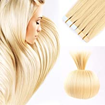 16 inches Remy Tape in Human Hair Extensions Blonde Color Full Cuticle Virgin Hair Straight Tape Hair 40g 20pcs