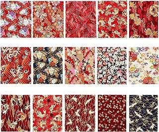 EXCEART 15 Pcs Coton Feuille de Tissu Japonais Style Couture Tissu Patchwork Tissu Tissu Bricolage Artisanat Tissu Photo A...