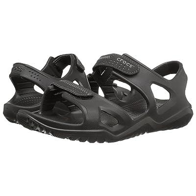 Crocs Swiftwater River Sandal (Black/Black) Men