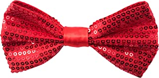 Sequin Bow Ties for Men - Pre-tied Adjustable Length Bowtie, Many Colors to Choose From