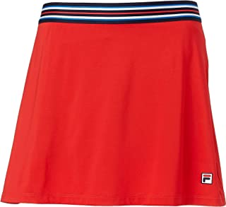 Heritage A Line Skirt - Chinese Red/Navy