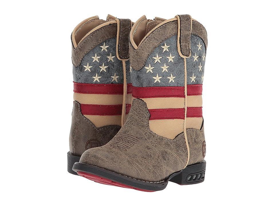 Roper Kids Patriot (Toddler) (Faux Leather Vamp Stars & Stripes Shaft) Cowboy Boots
