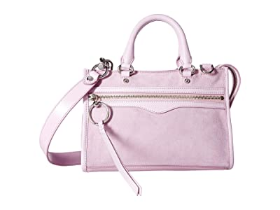 Rebecca Minkoff Micro Bedford Zip Satchel (Light Orchid) Satchel Handbags