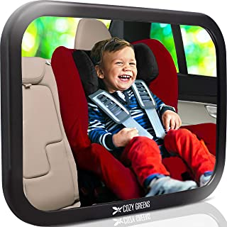 رنگ سبز COZY آینه خودرو عزیزم - پایدار - مشاهده نوزاد در صندلی عقب - 100٪ گارانتی رضایت مادام العمر - سقوط ایمنی تست شده و Shatterproof - صندلی عقب کریستال پاک کردن نمایش
