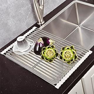Top Home Solutions - Escurreplatos plegable acero inoxidable