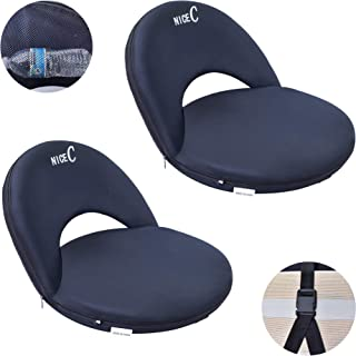 Nice C Stadium Seats, Bleachers Stadium Chairs, 10-Posisition Reclining Waterproof Cushion, Ultralight, Fordable, Portable Extra Thick Pading, with Shoulder Strap & Net Pocket Compact & Heavy Duty