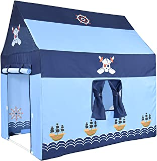 NARMAY Play Tent Pirate Club Playhouse for Kids Indoor / Outdoor Fun-102 x 71 x 102 cm