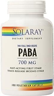 Solaray Paba TSTR Vitamin Capsules, 700 mg   100 Count