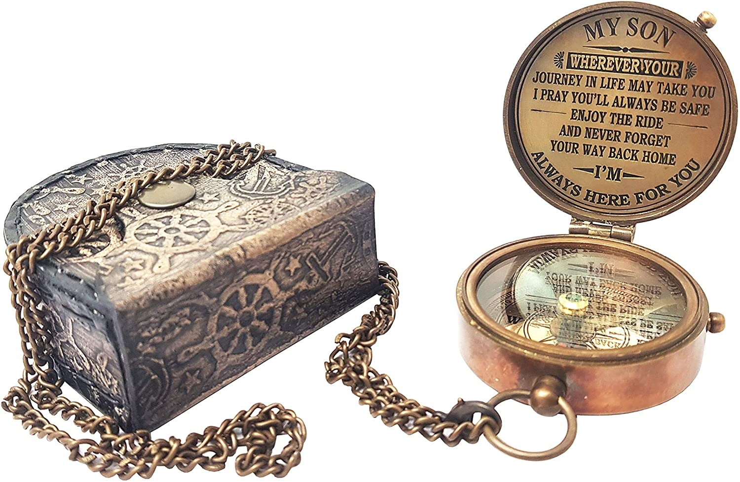 The New Antique 55% OFF Store - Compass with Case to Son Gift My for Same day shipping