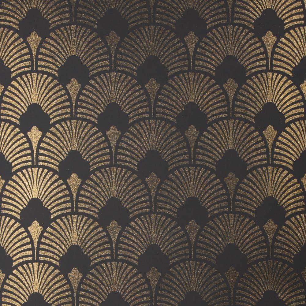 Green Gold Metallic Glitter Papier Peint Pâte Wall Industrial Texturé Vinyle