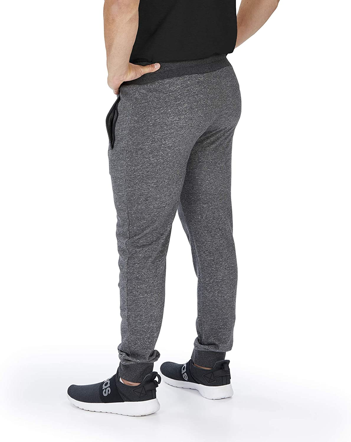 Zubaz Mens Marbled French Terry Jogger