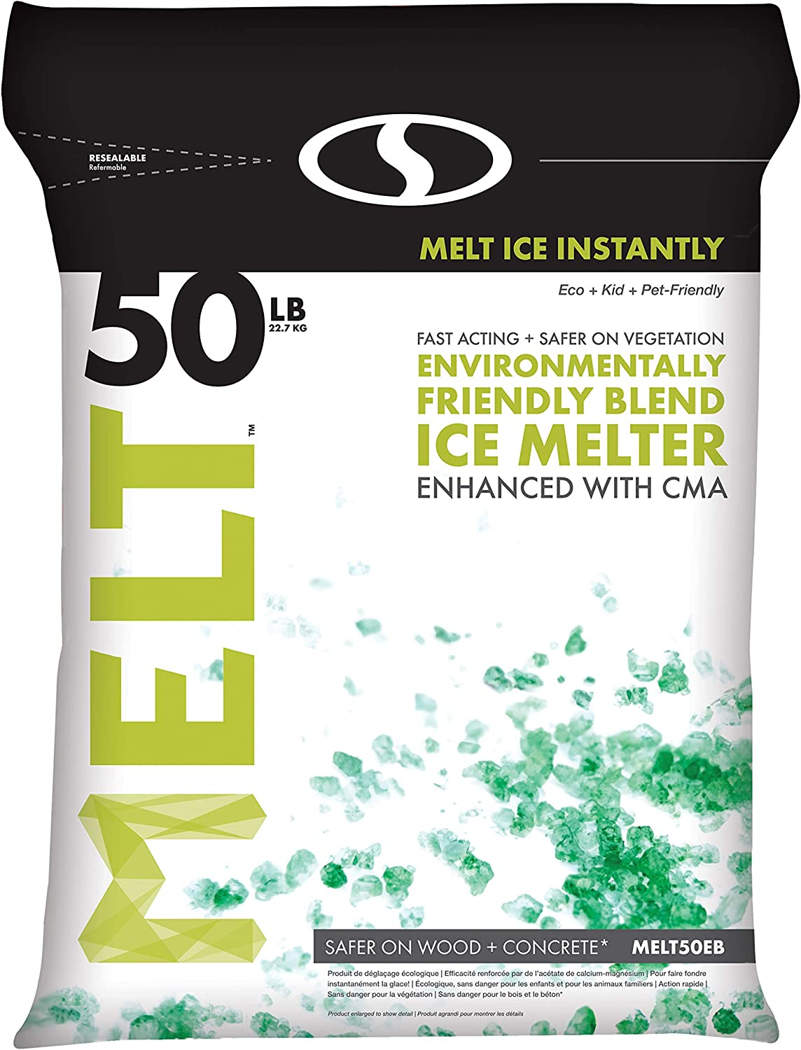 Snow Joe AZ-50-EB Melt-2-Go Year-end gift Nature + Ic Pet Friendly Blended CMA Special price for a limited time