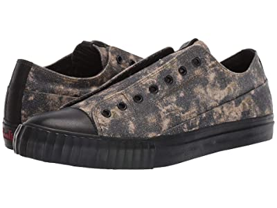 John Varvatos Vulcanized Abstract Camo Low Top (Army Green) Men