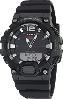 Men's Classic Quartz Watch with Resin Strap, Black, 27.78 (Model: HDC-700-1AVCF)
