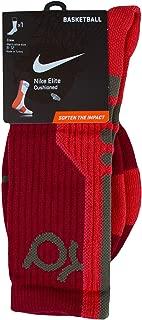 Elite Cushioned Basketball Crew Socks (kd) (Red/Fusion - 662, Medium)