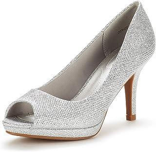 Women's City_ot Fashion Stilettos Peep Toe Pumps Heels Shoes