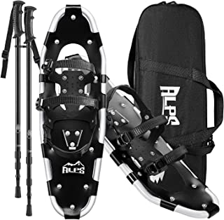 ALPS Adult All Terrian Snowshoes Set for Men,Women,Youth with Trekking Poles,Carrying Tote Bag14 /17