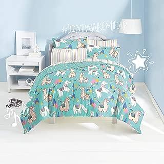 dream FACTORY Llamas Ultra Soft Microfiber Comforter Set Full, Blue