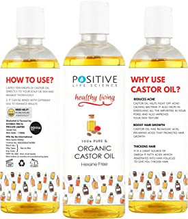 Positive Cold Pressed Castor Oil for Hair and Beard Growth - 200 ml