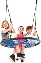 Smartsome Spider Web Tree Swing - 40 Inch Redesigned Tire Swing for Hours of Outdoor Fun, Soft Handles On The Rope Swing and Patented Easy Assembly, Great Kids Swing for Trees Or Playsets.