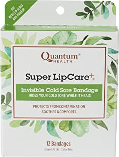 Quantum Health Super LipCare+ Invisible Cold Sore/Fever Blister Bandages - Soothes and Protects, Helps Prevent Contaminati...