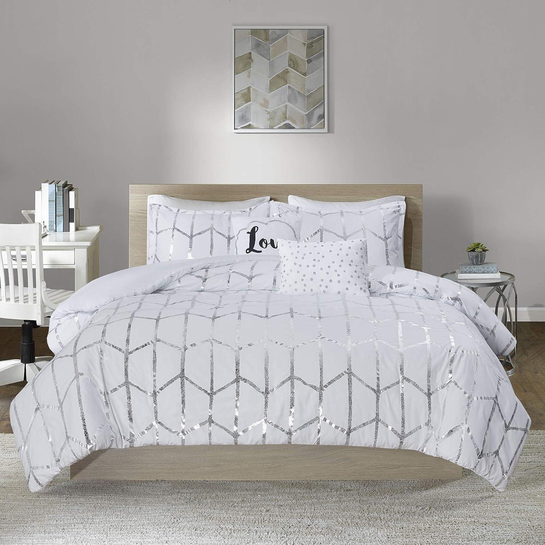 Intelligent Design Raina 5 Piece Duvet Print All items Selling rankings in the store Metallic Set Geomet
