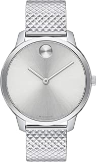 Bold, Stainless Steel Case, Silver White Dial, Stainless Steel Mesh Bracelet, Women, 3600595