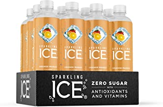 Sparkling Ice, Orange Mango Sparkling Water, with Antioxidants and Vitamins, Zero Sugar, 17 fl oz Bottles (Pack of 12)
