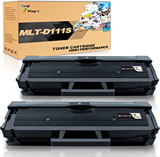 7Magic Compatible Toner Cartridge Replacement for Samsung MLT-D111S Work with Samsung Xpress M2020W M2022W M2070F M2070FW M2070W Laser Printer (Black, 2-Pack)
