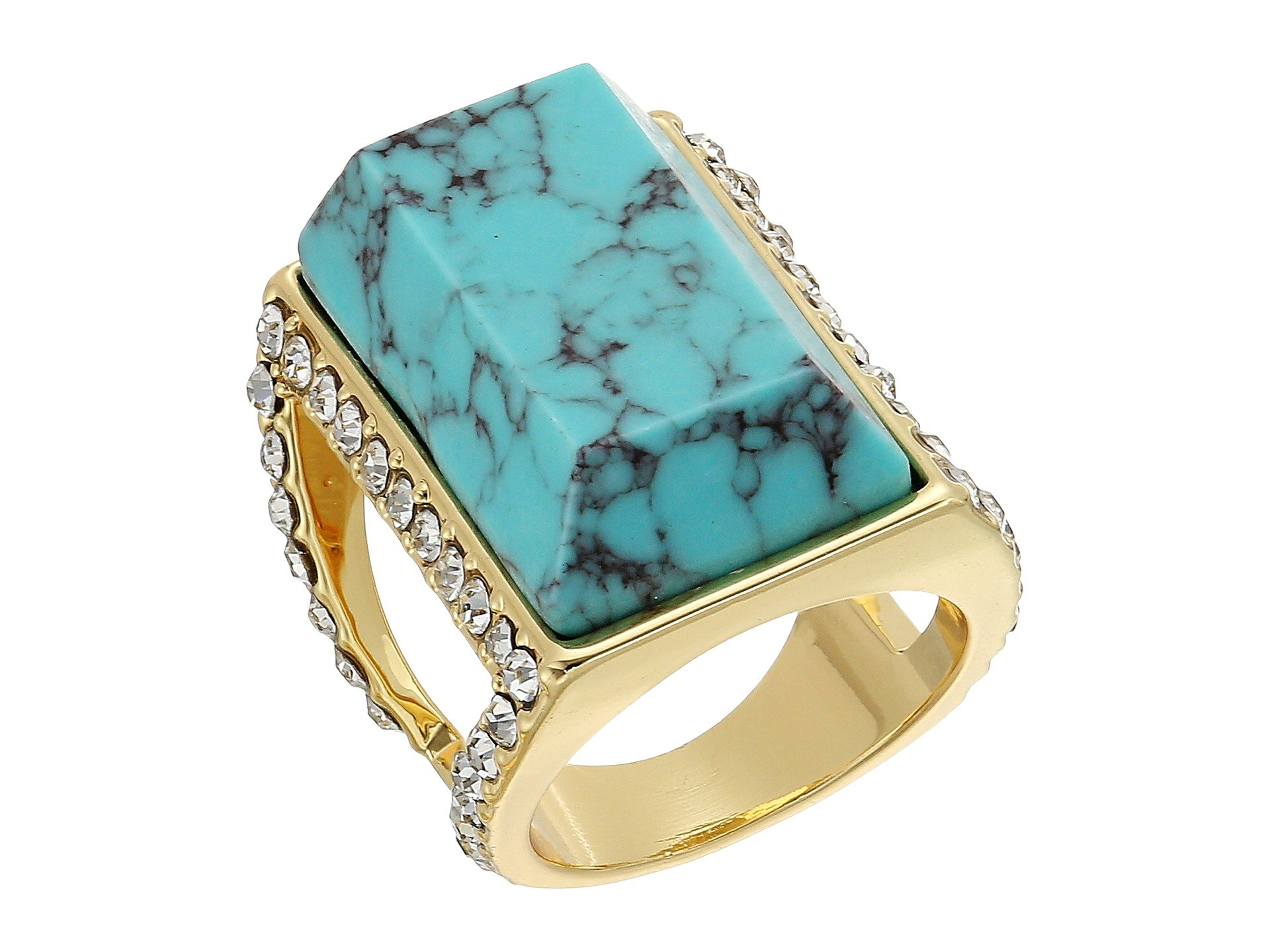 Anillo para Mujer GUESS Large Faux Turquoise Stone Ring  + GUESS en VeoyCompro.net