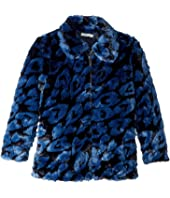 Stella McCartney Kids - GAIA Leopard Faux Fur Full Zip Jacket (Big Kids)