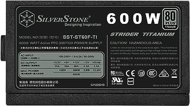 SilverStone Technology Strider Series Fully Modular 600W ATX Power Supply with 80 Plus Titanium PS-ST60F-TI