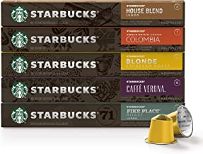Starbucks By Nespresso Best Seller Variety Pack, 50 Count (Pack of 20)