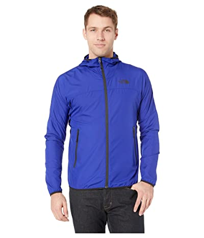 The North Face Flyweight Hoodie (Aztec Blue/TNF Black) Men