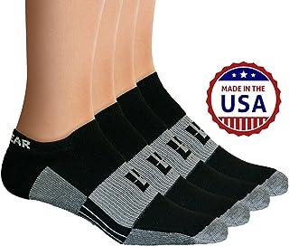 MudGear No-Show Socks - Premium Mens & Womens Below Ankle Running Athletic Sports - Black/Gray (2 Pairs)