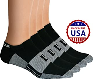 No-Show Socks - Premium Mens & Womens Below Ankle Running Athletic Sports - Black/Gray (2 Pairs)