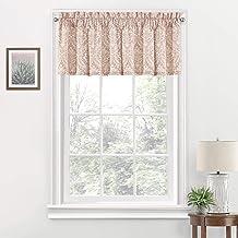 """WAVERLY Donnington قصيرة ستائر نافذة صغيرة للحمام ، غرفة المعيشة والمطابخ، 52"""" x 18""""، أحمر خدود"""