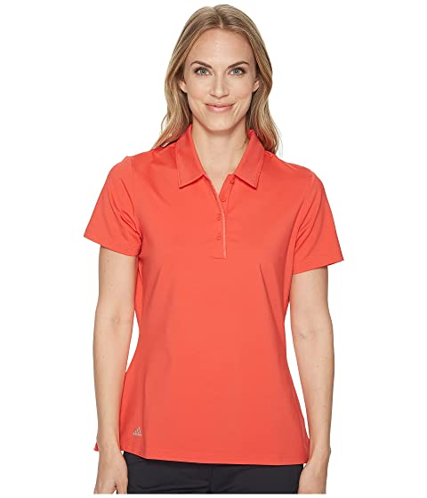 Adidas Women's Ultimate Short Sleeve Polo (Real Coral)