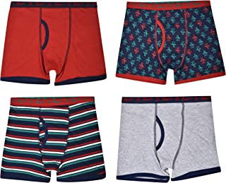 c07b2d1034678 Original Penguin Boys 4-Pack Tagless Jersey Cotton Winter-Theme Printed  Boxer Briefs Holiday