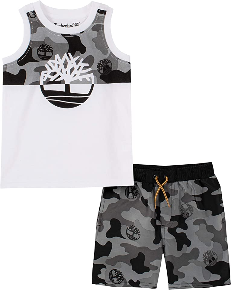Timberland Baby Boys' 2 Pieces Muscle Top Shorts Set