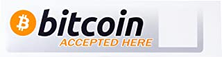 My Bitcoin Sticker - With New QR Code Window Feature for you to Personalize it - Be Able to Receive Cryptocurrency Payments - Secure them at the Same Time -Let the World Know you Accept Digital Money!